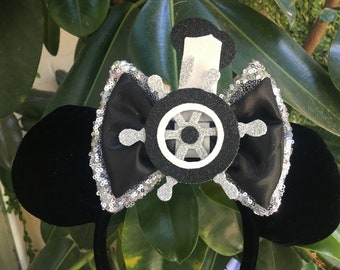 Steamboat Willie Mouse Inspired Extra Large Interchangeable Bow
