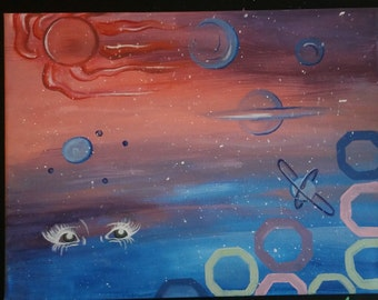 Universal Soul Acrylic Space Painting