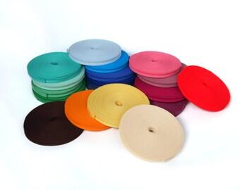 Bias binding - Bias tape - Single folded Bias tape -  Folding Cotton Tape - Binding Tape - Bunting Tape - Trimming Tape - Sewing Tape