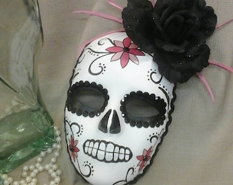 DAY OF THE Dead  Handpainted Masquerade Mask