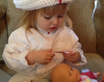 Crocheted Nurse Hat (Infant to Adult)