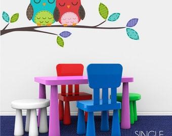 Nursery Love Owls Nursery Vinyl Wall Decals - Sticker Art Custom Home Decor