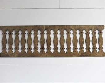 Vintage Inspired Window Porch Baluster Spindle Frame 42x12.5 Wood Cut Wall Art Sign Decor VB1-4212