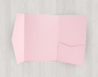 10 Vertical Pocket Enclosures - Pink - DIY Invitations - Invitation Enclosures for Weddings and Other Events
