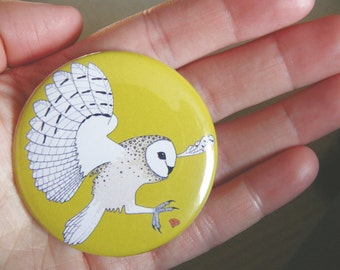 Owl & jewel pocket mirror