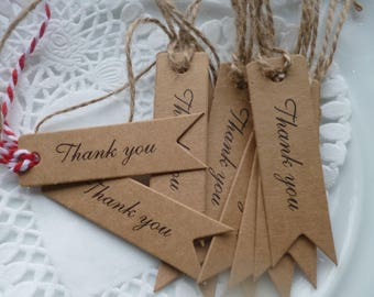 """""""Thank you"""" gift tags"""