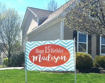 Birthday Banner ~ Chevron