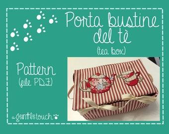 cartamodello pattern scatola porta bustine del thè
