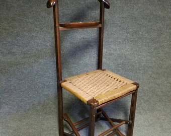 Mid Century Danish Modern Hans Wegner Era Italian Folding Valet Chair Broadway Department Store 1950s