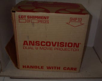 Vintage Anscovision Dual 8 Movie Projector