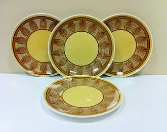 Dinner Plates Taylor Smith Honey Gold Vintage Dishes