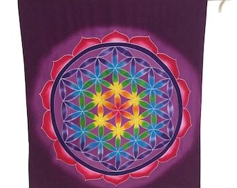 Flower of life hand painted tapestry boho decor mandala  yoga room