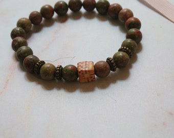"""Bracelet """"Mother earth"""" - perfect gift for the summer. Size customizable upon request."""