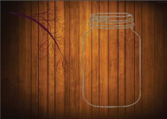 Items Similar To Rustic Mason Jar Background On Etsy