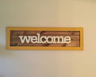 Welcome Wall Decor Sign