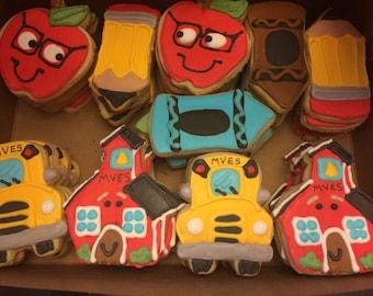 School Theme Cookies