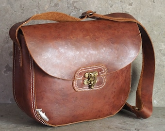 Chelan County Creel Leather Satchel -- Brown Leather