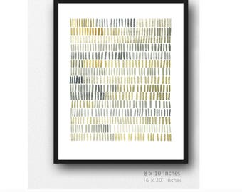 Minimalist wall art, Abstract painting gray yellow, Abstract Print, Modern Print, Minimal Print, minimalist art, neutral colors