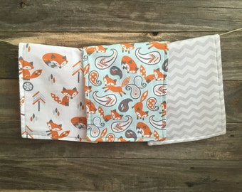 Fox Burp Cloth Set