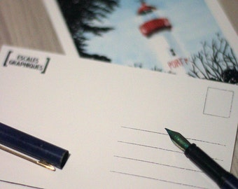 Postcard, Greeting card, Britanny, Normandy, French coast, France