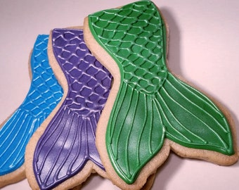 Mermaid Tail Cookies (1 dozen)