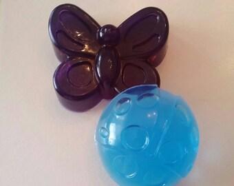 Spring Soap Set, Handmade Glycerin Lavender soap, Animal soap, Butterfly Soap, Ladybug Soap, Soap Favor, Handmade Kids glycerin soap