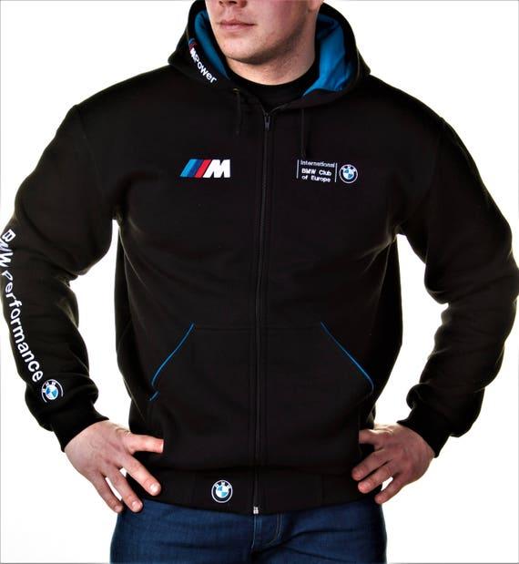 Zip Hoodie BMW, M Power, Motorsport, Embroidery logos, Best offer.