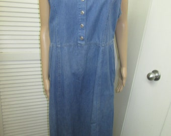 Vintage Northern Reflection blue denim maxi dress jumper. Versatile and classic go with everything. Size Large.