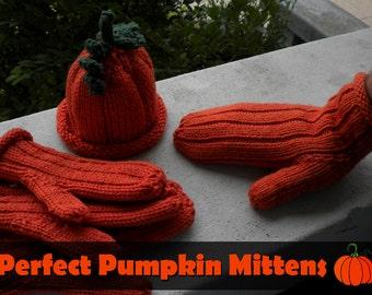 Kết quả hình ảnh cho PUMPKIN PATCH MITTENS knitting halloween