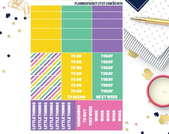 """51 Pineapple Collection """"Washi"""" and Section Header Planner Stickers! KT459"""