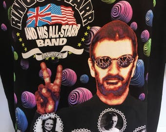 Ringo Starr and His All Starr Band 10th Anniversary Tour T-Shirt Tee Size XL