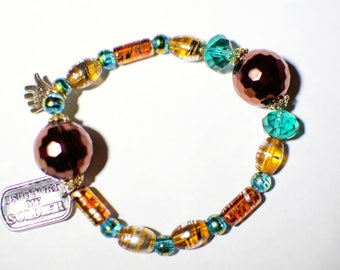 Support My Soldier Beaded Bracelet
