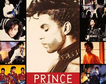 Prince Collage 24 x 36.92 Reproduction Poster - Prince And The Revolution Memorabilia Collectibles Collection Collector Gift Idea