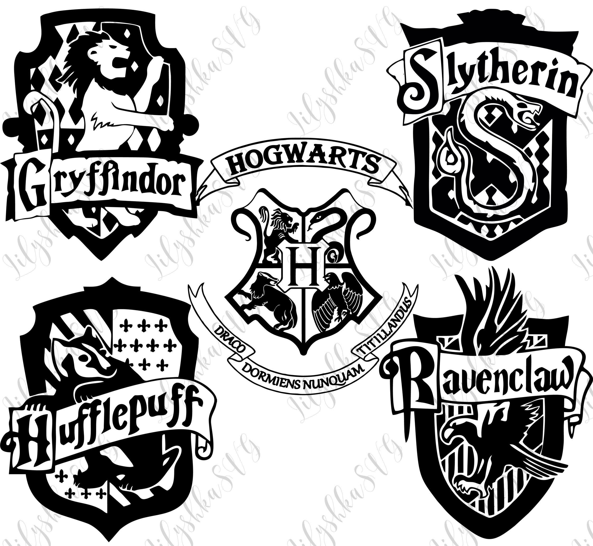 Download Harry Potter svg Hogwarts houses svg Griffindor slytherin