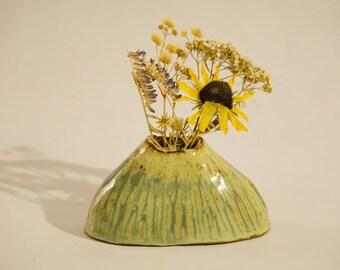 Ceramic vase - flower vase - hand made ceramic bud vase - ceramic pen holder