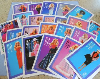 1980-1990 Barbie Trading Cards, First Edition