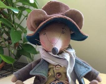 OOAK animal doll, Mr. Jeremy Sullivan