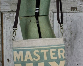 Vintage Master Mix Feed Sack Shoulder Bag | Cross Body | Repurposed | Upcycled | Tote | Purse | Grainsack | Feedsack