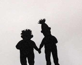 Wedding Cake Topper - Bert and Ernie silhouette