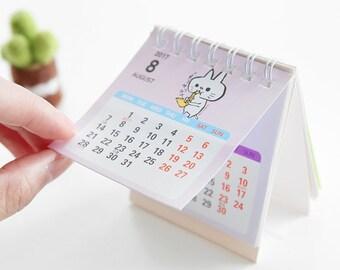 2017 Desk Calendar Check List Stand Calendar