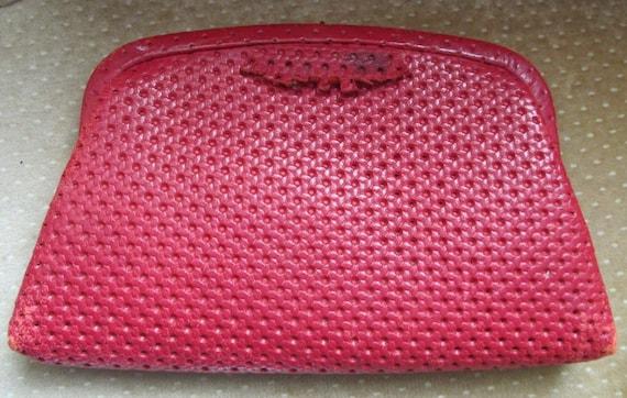 VTG Red Leather Stylecraft Clutch