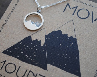 READY TO SHIP . Move Mountains Necklace  .  Graduation Gift . Inspirational Jewelry