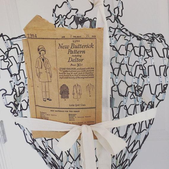 Butterick Nähen Muster 20er Mantel mit Cape Vintage Antik