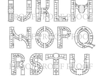 Architectural Alphabet Digital download