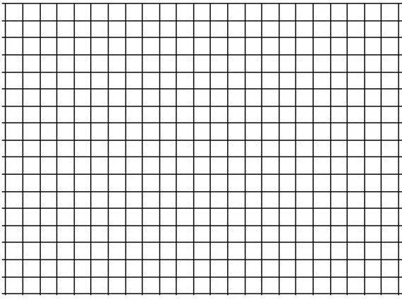 25 Pack of Large Sheet Format 1 Graph Paper 24 x