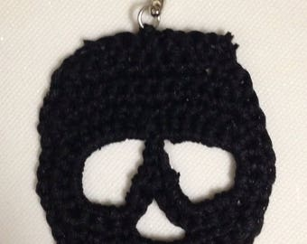 Death's head (choice of color) key holder