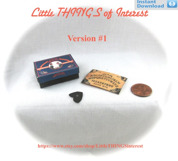 Dollhouse Doll OUIJA BOARD - Box and Planchette Printable Tutorial Miniature 1:12th Scale Version 1 DIY Fortune Teller Gypsy Tarot Magic