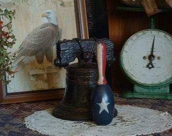Primitive, Country, Americana, American Flag, Stars, Sock Darner, Folk Art, Farmhouse,Bowl Fillers, Tucks