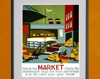 This Is The Market..... - 8.5 x 11 Poster Print - also available in 13x19 - see listing details