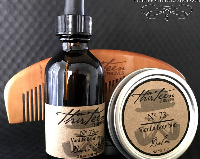 Two Ounce Beard Grooming Kit with Oil, Balm, and Comb